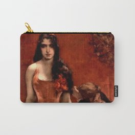 The Last Temptress female romantic portrait painting by Charles Hermans Carry-All Pouch