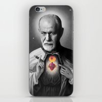 freud iPhone & iPod Skins featuring Freud by Michelle Wenz