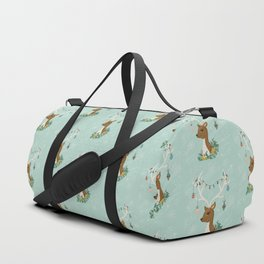 Vintage Inspired Deer with Decorations Duffle Bag
