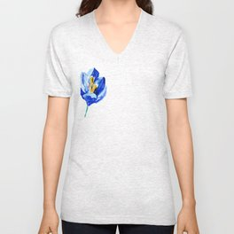 flower IX Unisex V-Neck