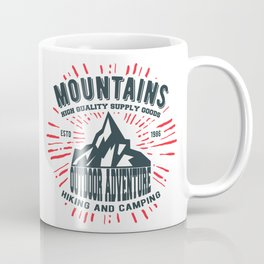 Mountains stamp print design Coffee Mug