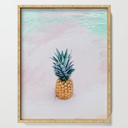 Pineapple on the beach Serving Tray