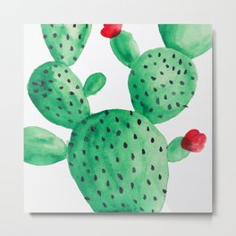 Home is where your cactus pricks Metal Print