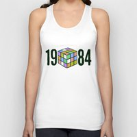 1984 Tank Tops featuring 1984  by CaptClare