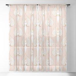 Woman Rising - White Sheer Curtain