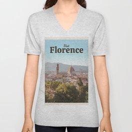 Visit Florence Unisex V-Neck