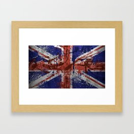 Union Jack Graffiti 2 Framed Art Print