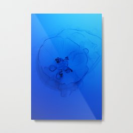 A Sea Nettle in the Deep Ocean Metal Print