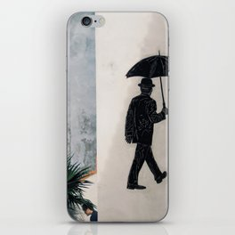 Umbrella Man iPhone Skin