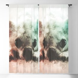 Chihuahua Digital Watercolor Painting Blackout Curtain