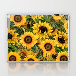 Vintage & Shabby Chic - Noon Sunflowers Garden Laptop & iPad Skin