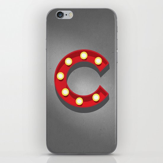 C - Theatre Marquee Letter iPhone Skin