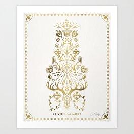 La Vie & La Mort – Gold Palette Art Print