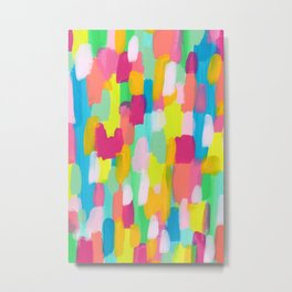 Meet Me In The Rainbow Woods - colorful abstract painting pattern Metal Print