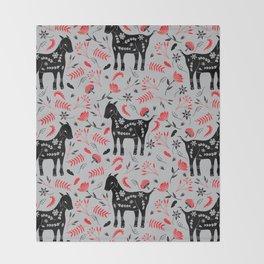 Goat Garden Throw Blanket
