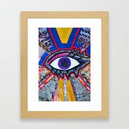 Eye collage Framed Art Print