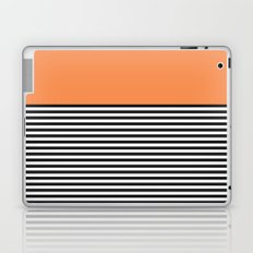 STRIPE COLORBLOCK {ORANGE} Laptop & iPad Skin