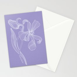 Violet Tulips. Easy Line Stationery Cards