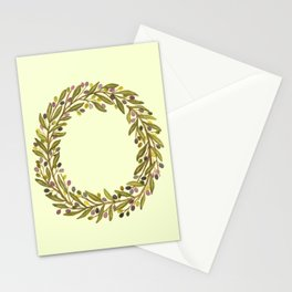 Leafy Letter O Stationery Cards
