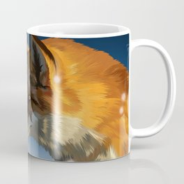 Hunting in the snow Coffee Mug