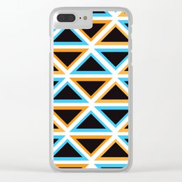 Colorful Triangle (Ranging Tribuj) Clear iPhone Case