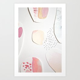 Minimalist Watercolor Collage Detail I Art Print