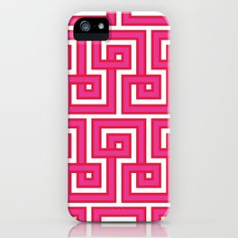 Greek Key - Pink iPhone Case