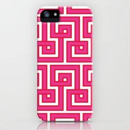 Greek Key - Pink iPhone Case