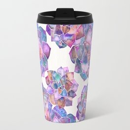 Rosette Succulents – Galaxy Palette Travel Mug