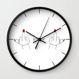 BOY. BYE. Wall Clock