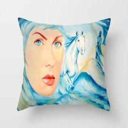Dream of Blue Throw Pillow