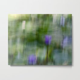 Tropical Impressionism (Purple Water Lily) Metal Print