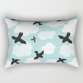 Flying blackbirds Rectangular Pillow