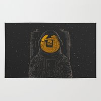 dark side of the moon Area & Throw Rugs featuring Dark side of the moon by Rodrigo Ferreira