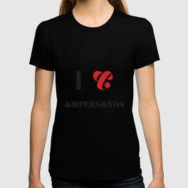 I heart Ampersands T-shirt