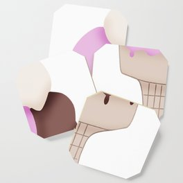 Neapolitan Ice Cream Cone Coaster