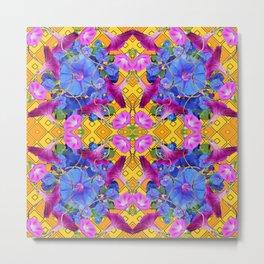 Contemporary  Purple Metal Print