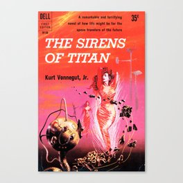 Vonnegut -  The Sirens of Titan Canvas Print