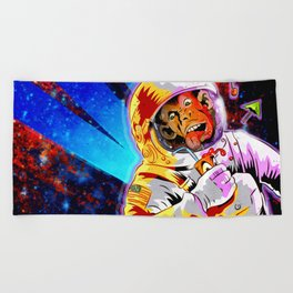 SPACE CHIMP Beach Towel
