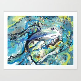 The Difficulties of the Water Soluble Shark Art Print
