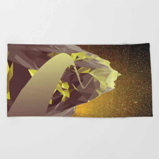 Night Mountains No. 9 Beach Towel