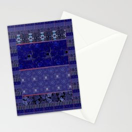 Blue Lapis Tile / Blue Layers Stationery Cards