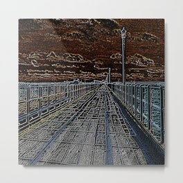 Light Pier Metal Print