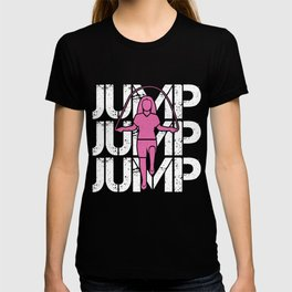 Jump Rope Girl Athlet Fitness Rope Skipping Hobby T-shirt