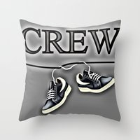 animal crew Throw Pillows featuring Crew by Cs025