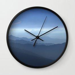 Blue dreams II. Misty mountains Wall Clock