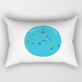 Keep the Ocean Blue_Dolphin_G Rectangular Pillow