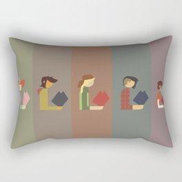 Lumber Ladies Read Rectangular Pillow