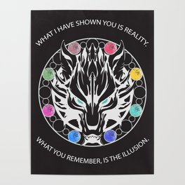 Silver Fenrir with Materia Poster