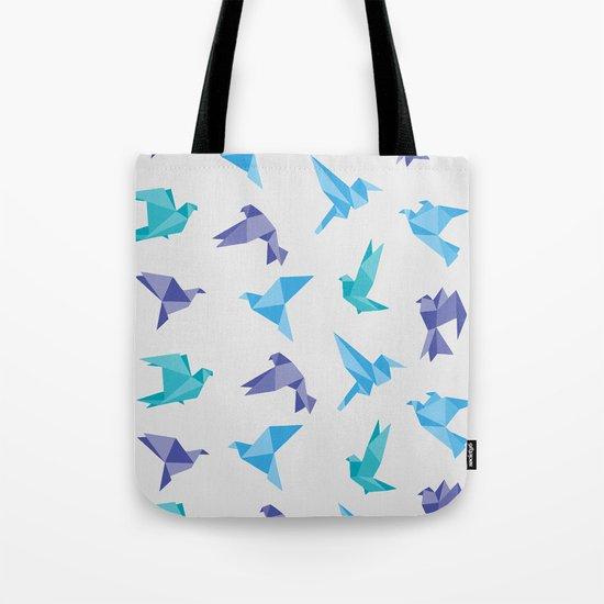 ORIGAMI BIRDS Tote Bag